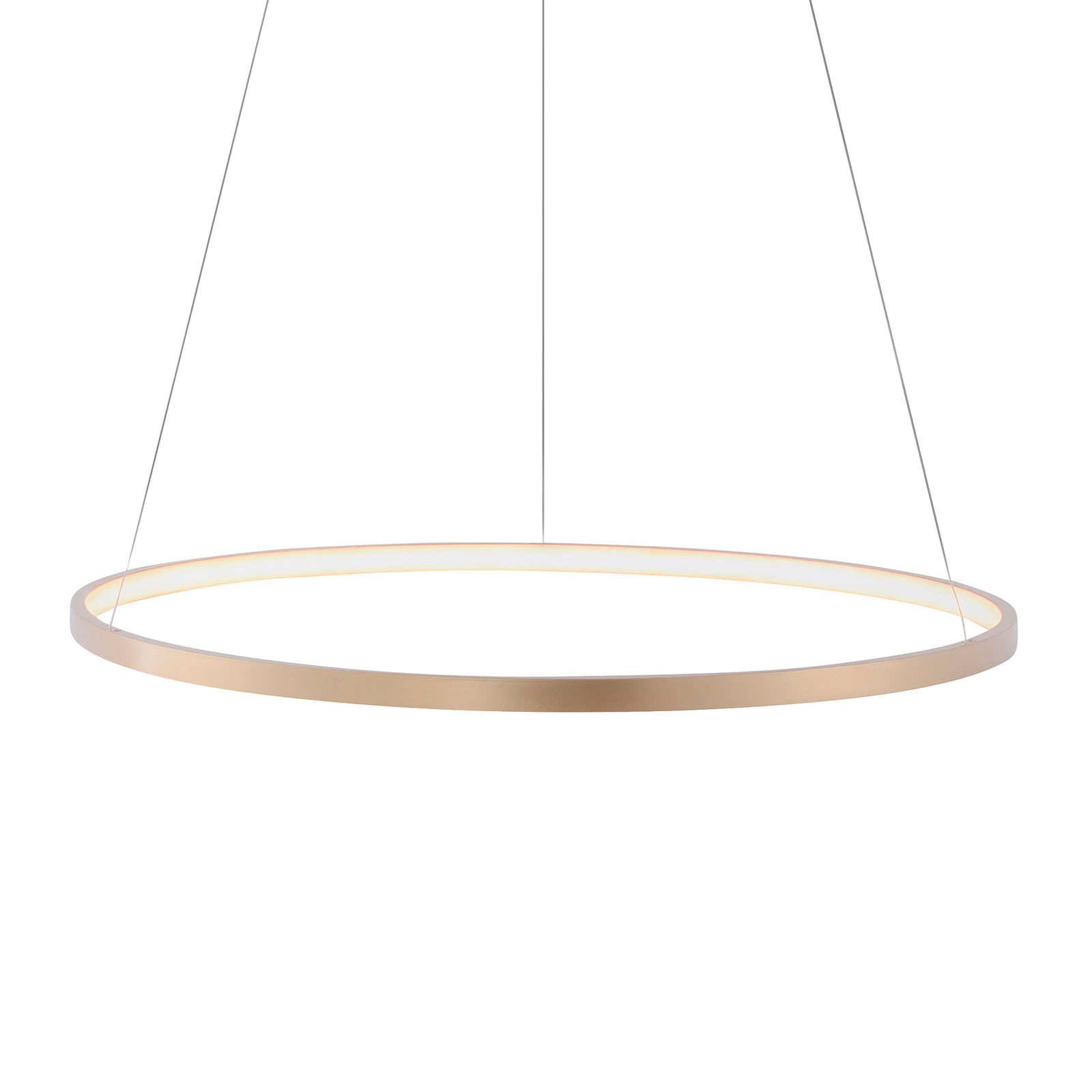 Suspension LED Circle dorée, Ø 60 cm