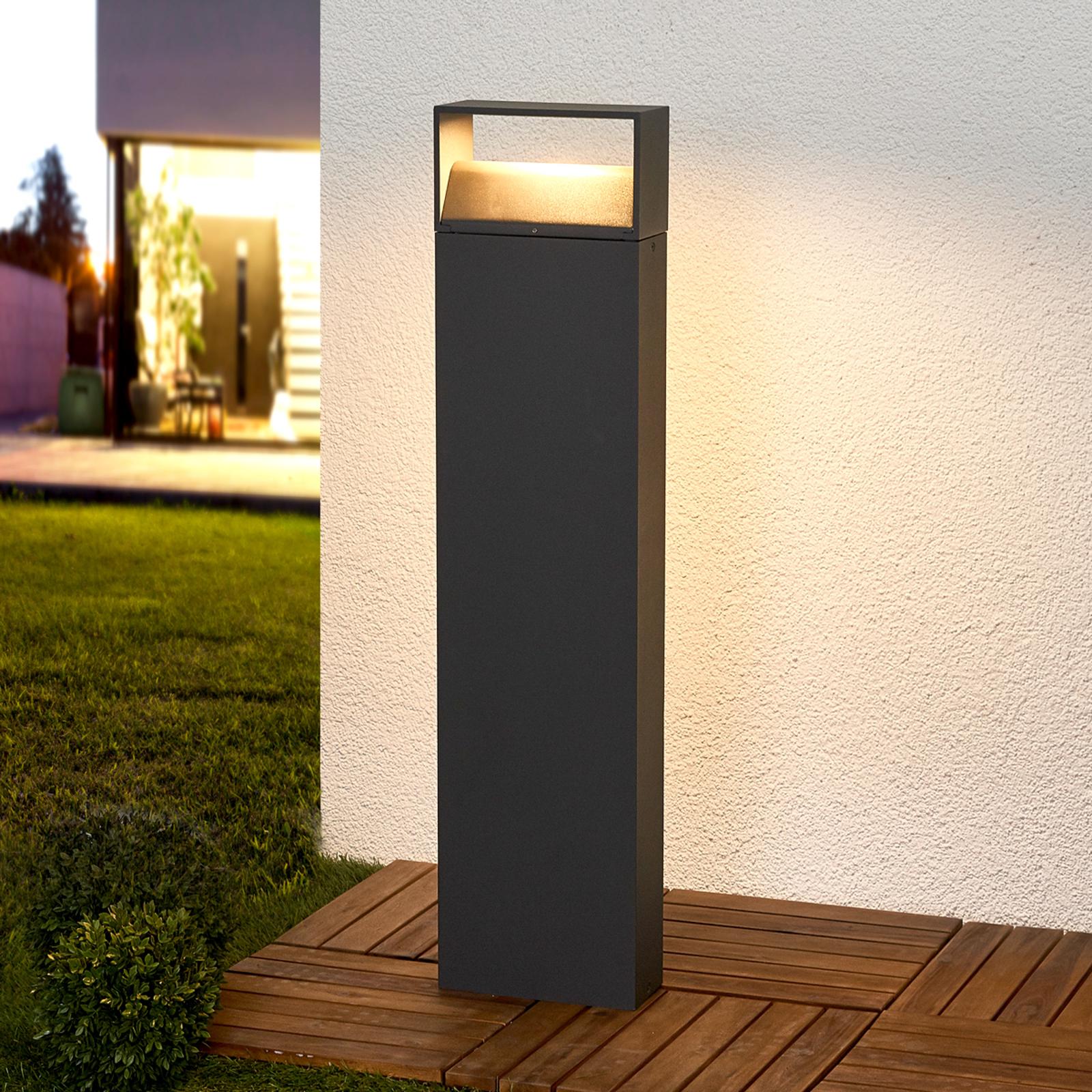 Tummanharmaa Kjella LED-pollarivalaisin