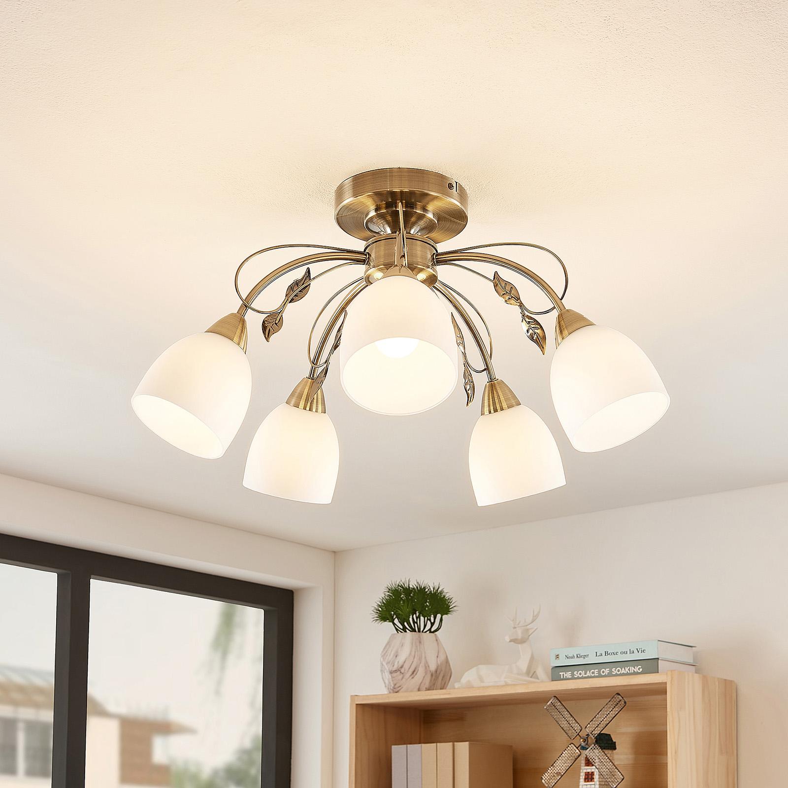 Lindby Thaddeus lámpara de techo 5 luces alto 31cm