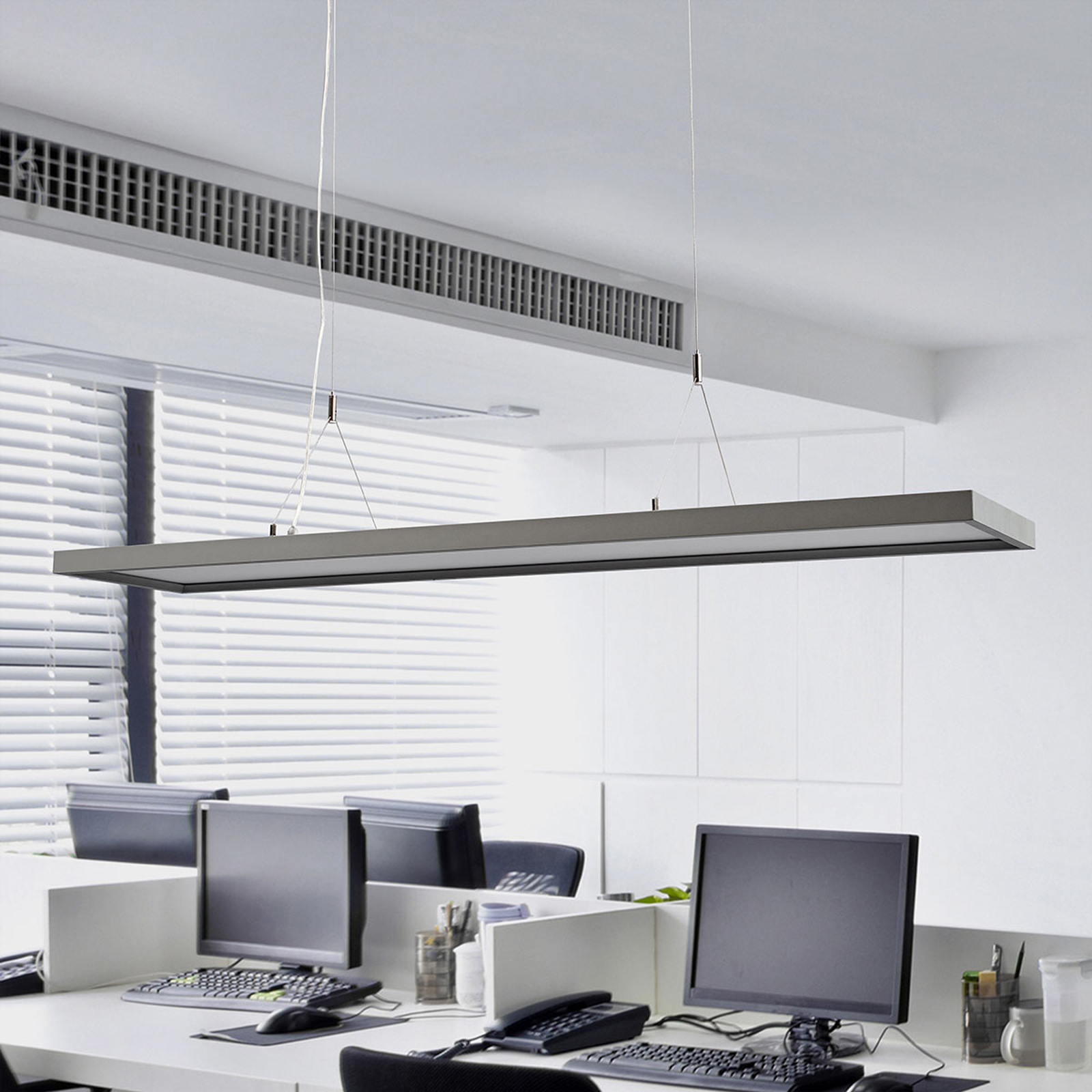 Dimbare LED Office hanglamp Divia