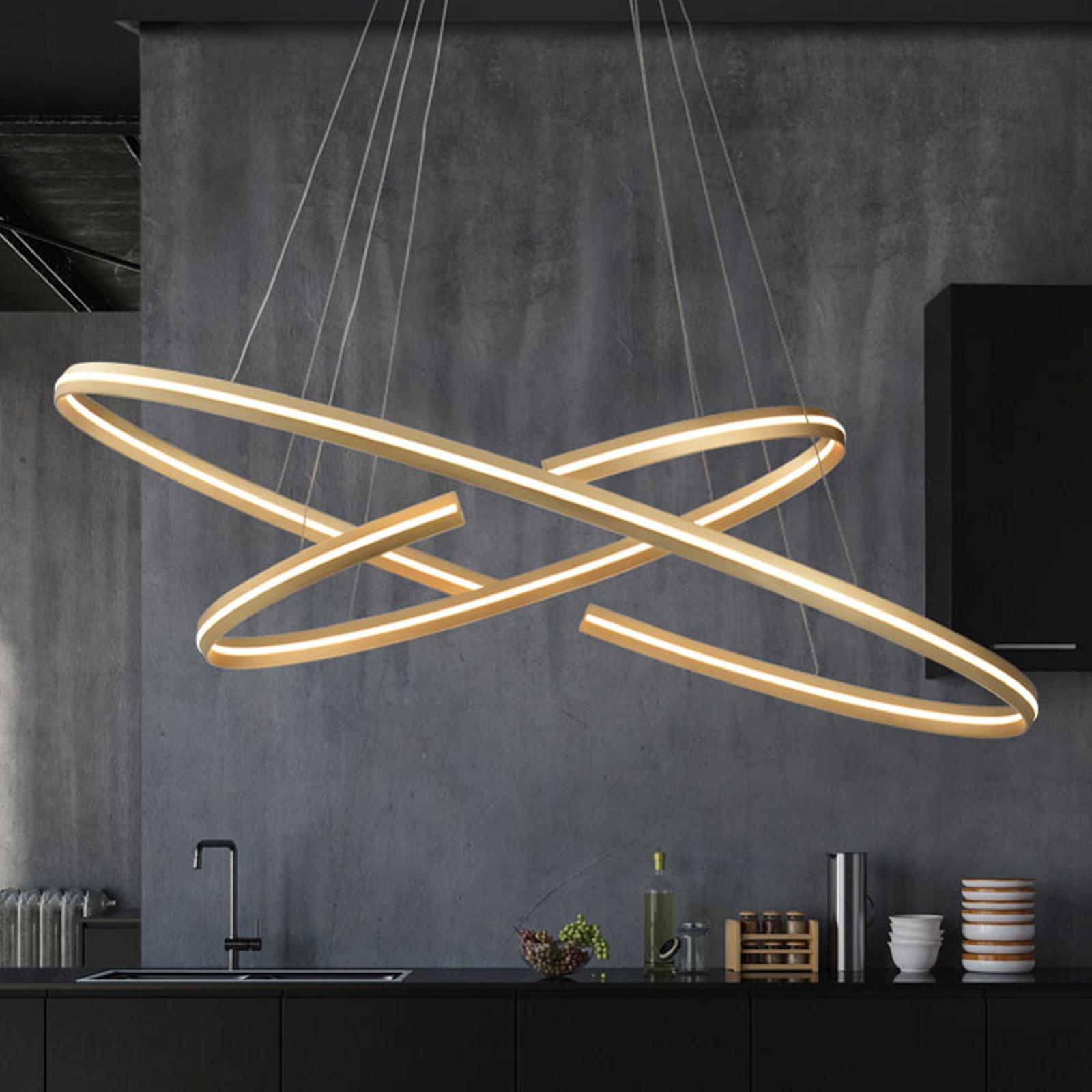 Lampa wisząca LED Elipse owalny kształt, 120x60 cm
