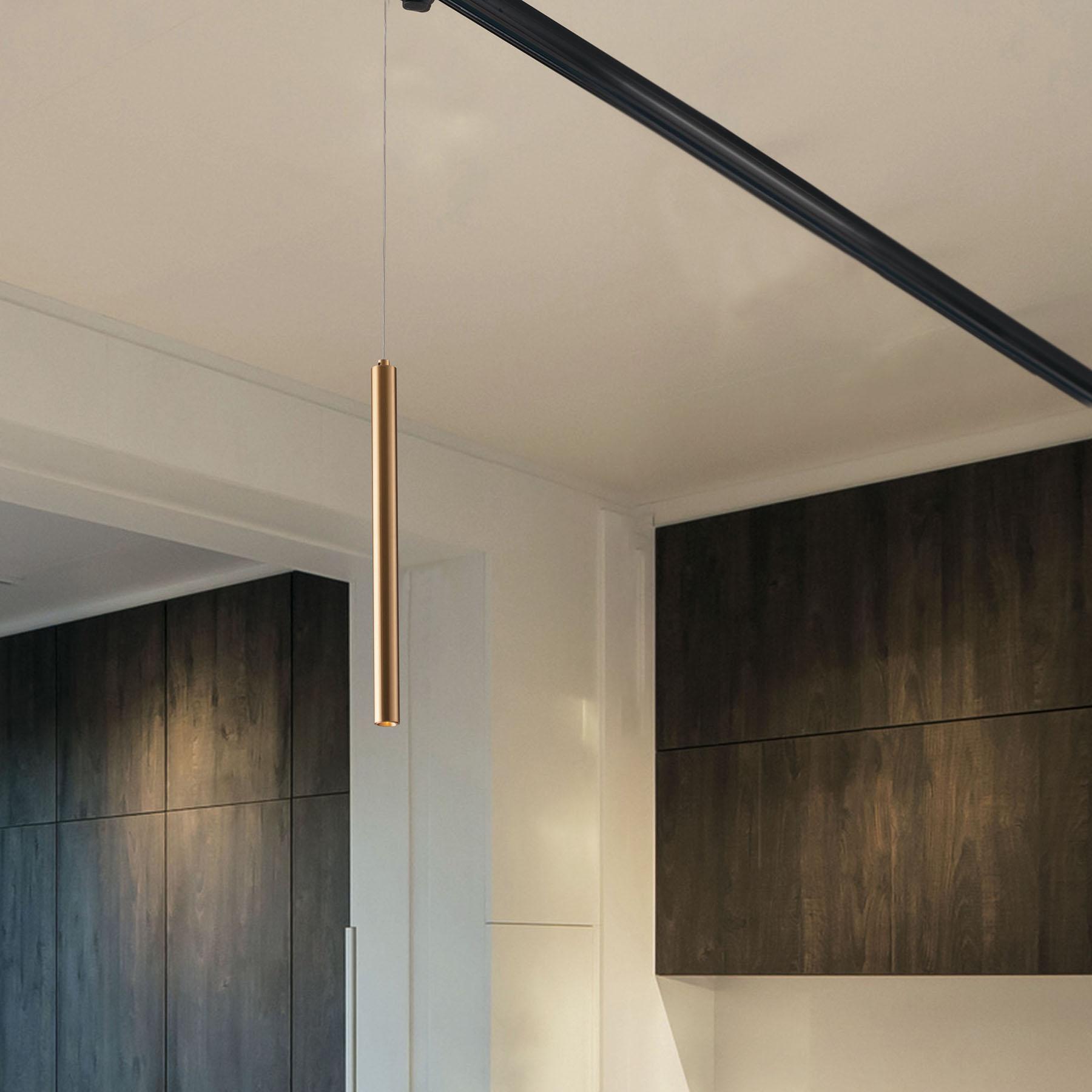 LED rails-hanglamp Oboe 3,5W 3.000K goud