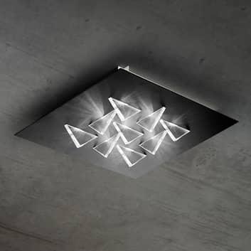 Efektowna lampa sufitowa LED Cristalli