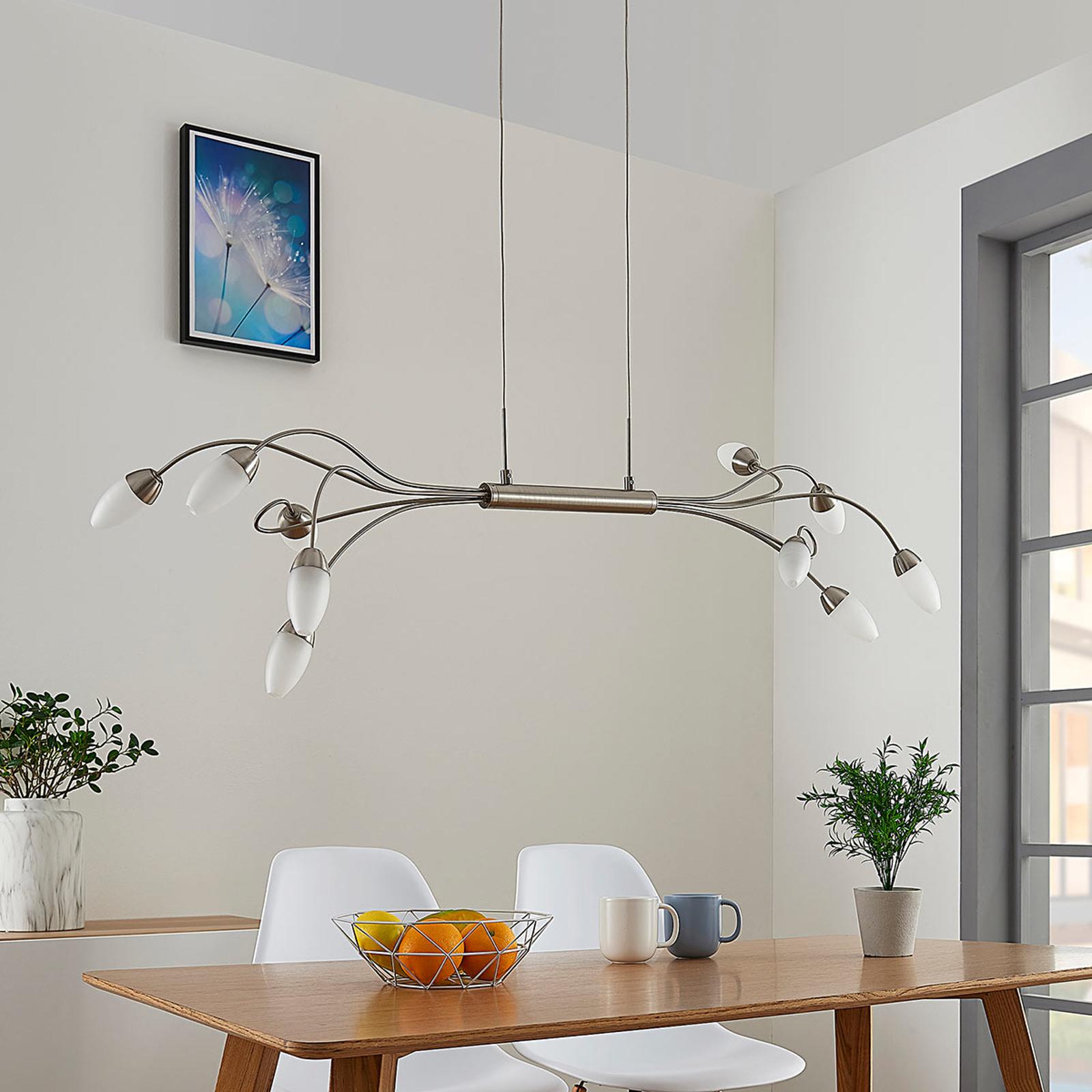 LED-Pendellampe Deyan, dimmbar, 10-fl.