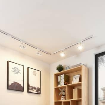 1-fazowy system szynowy LED Linsey, 4pkt., biały