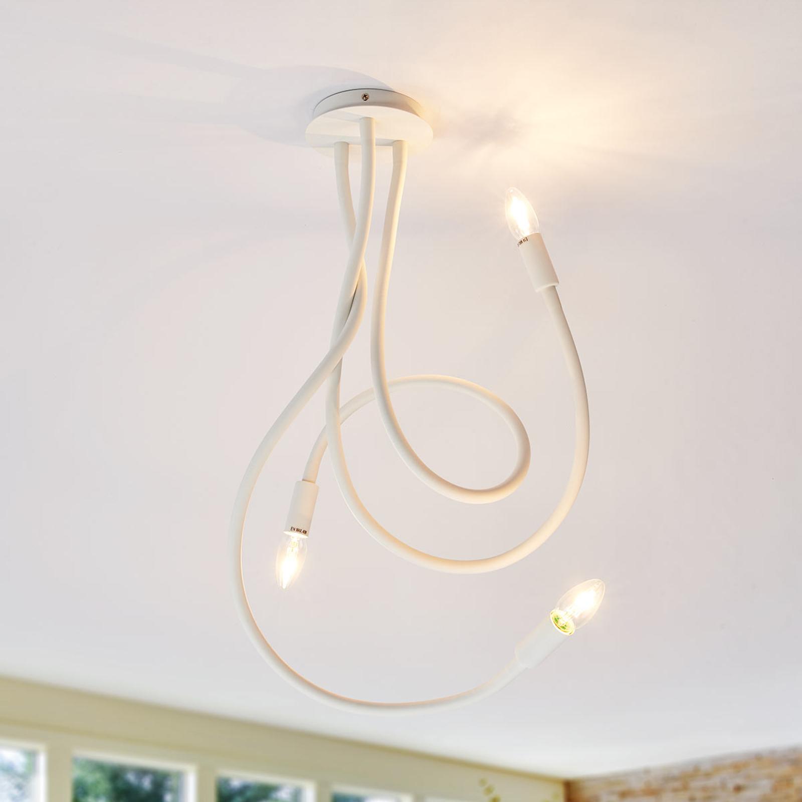 Zwariowana lampa sufitowa Lover, 3-punktowa, biała