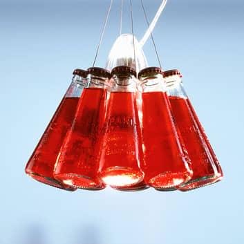 Lampada a sospensione con bottiglie Campari Light