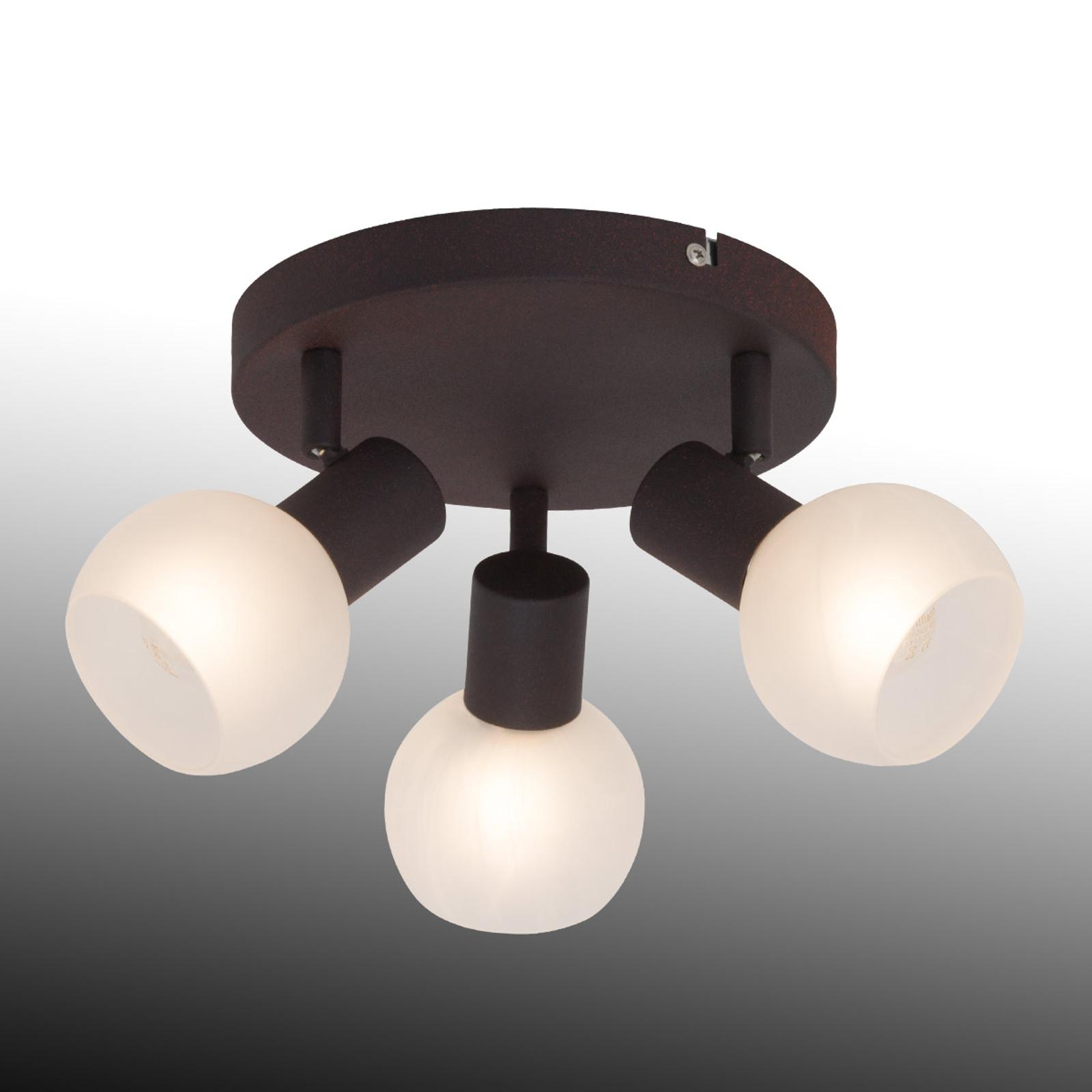 Riflettore da soffitto circolare Gabon a 3 luci