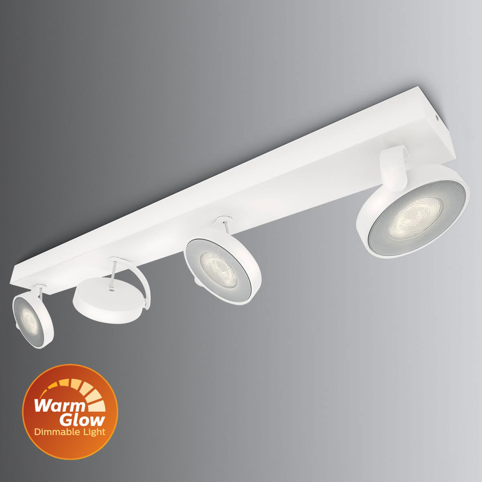 Philips Clockwork LED-Strahler weiß 4flg. WarmGlow