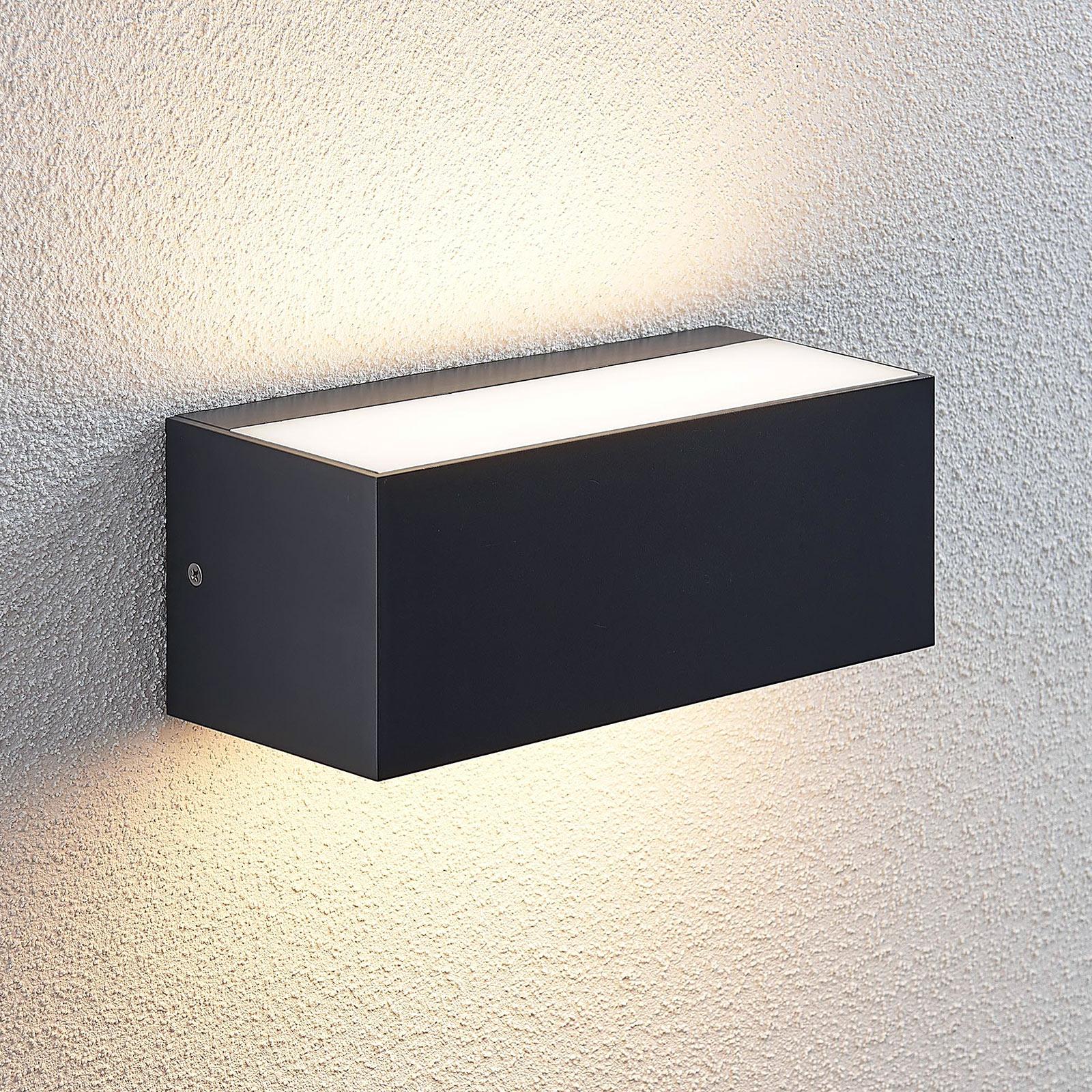 Utendørs LED-vegglampe Nienke, IP65, 23 cm