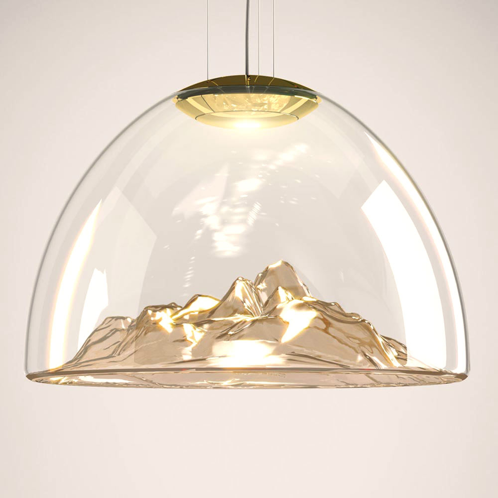 Axolight Mountain View LED hanglamp amber-goud