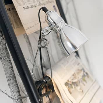 Lampada a morsetto Photo, alluminio lucido