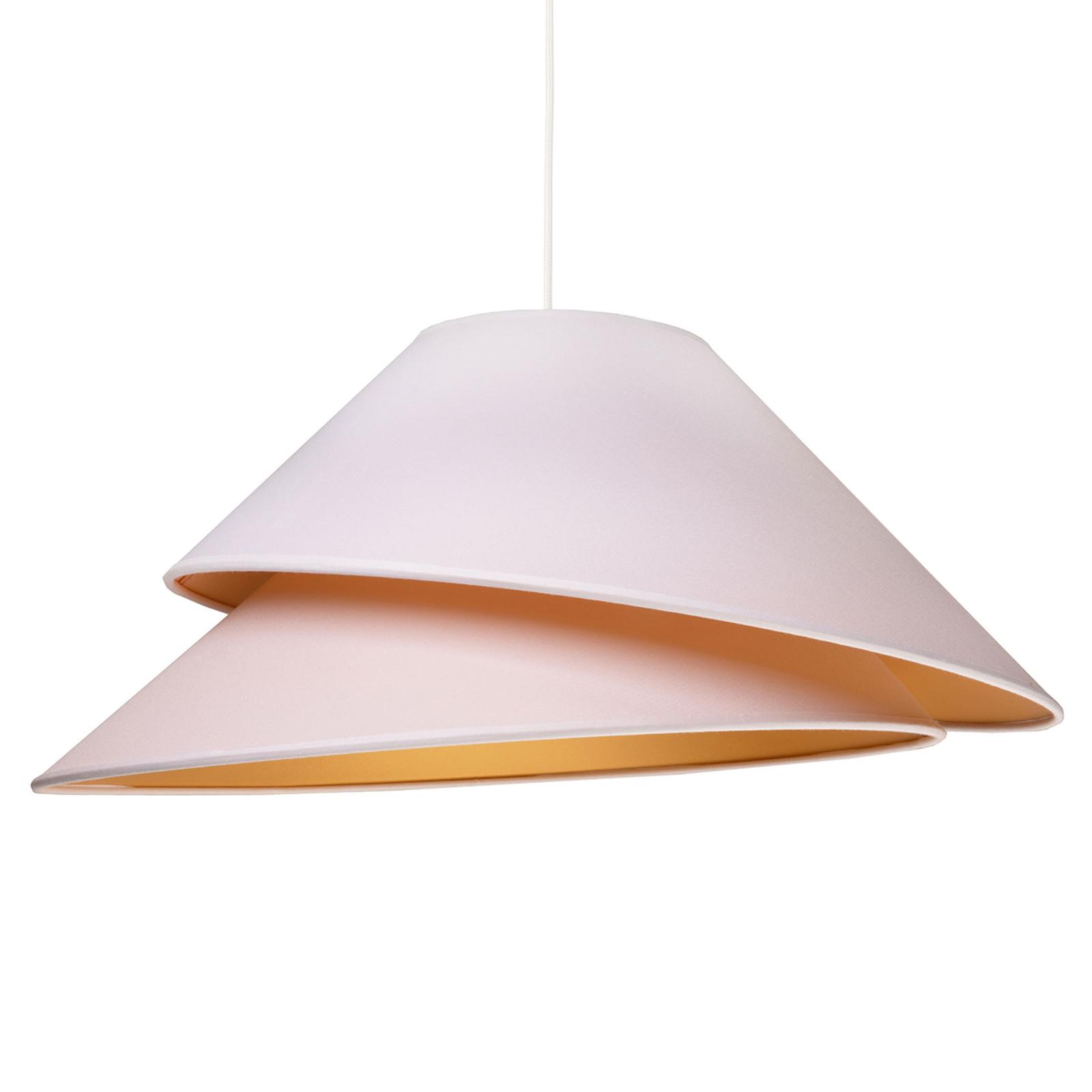 Textiel-hanglamp Coco, wit