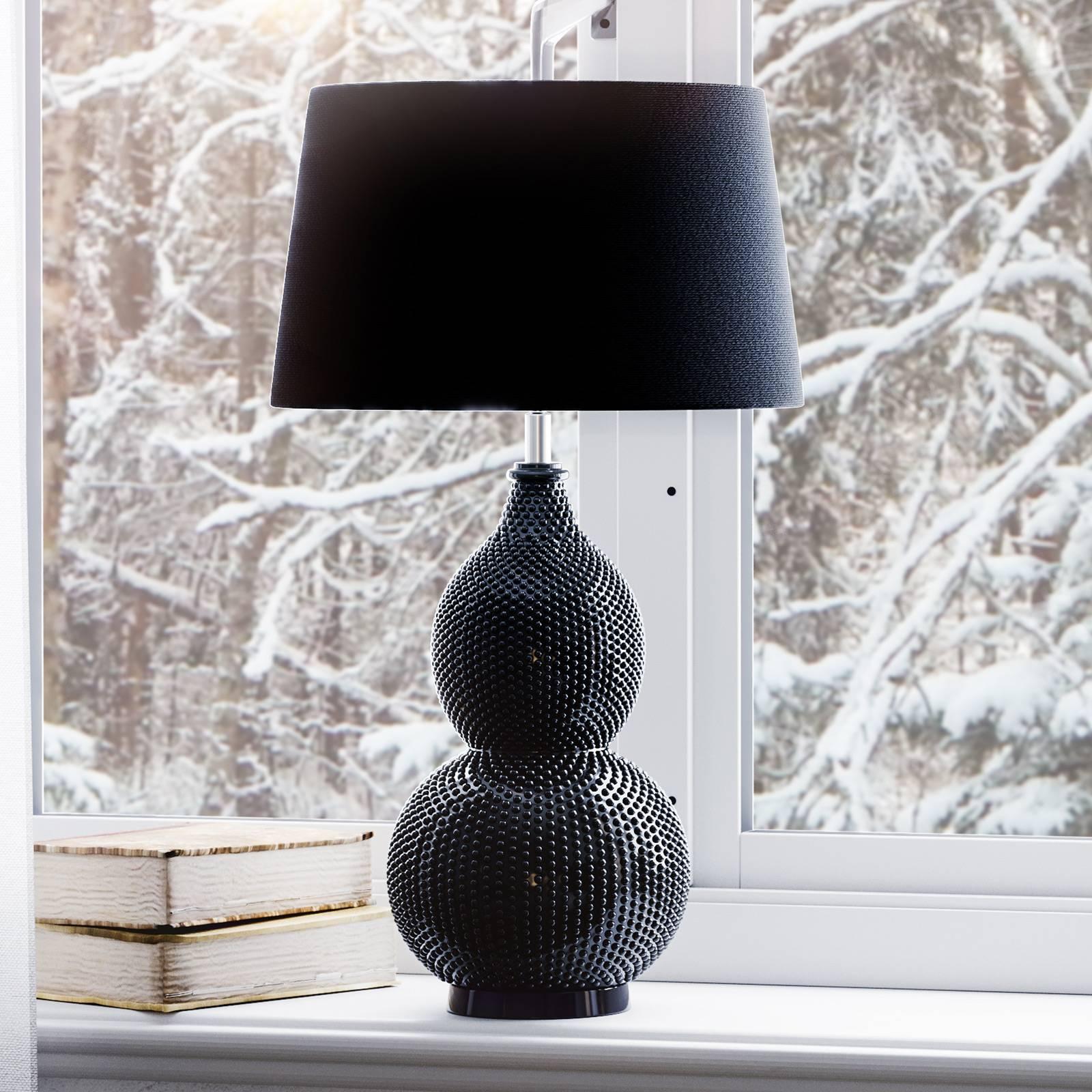 By Rydéns Lofty lampe de table tissu noir