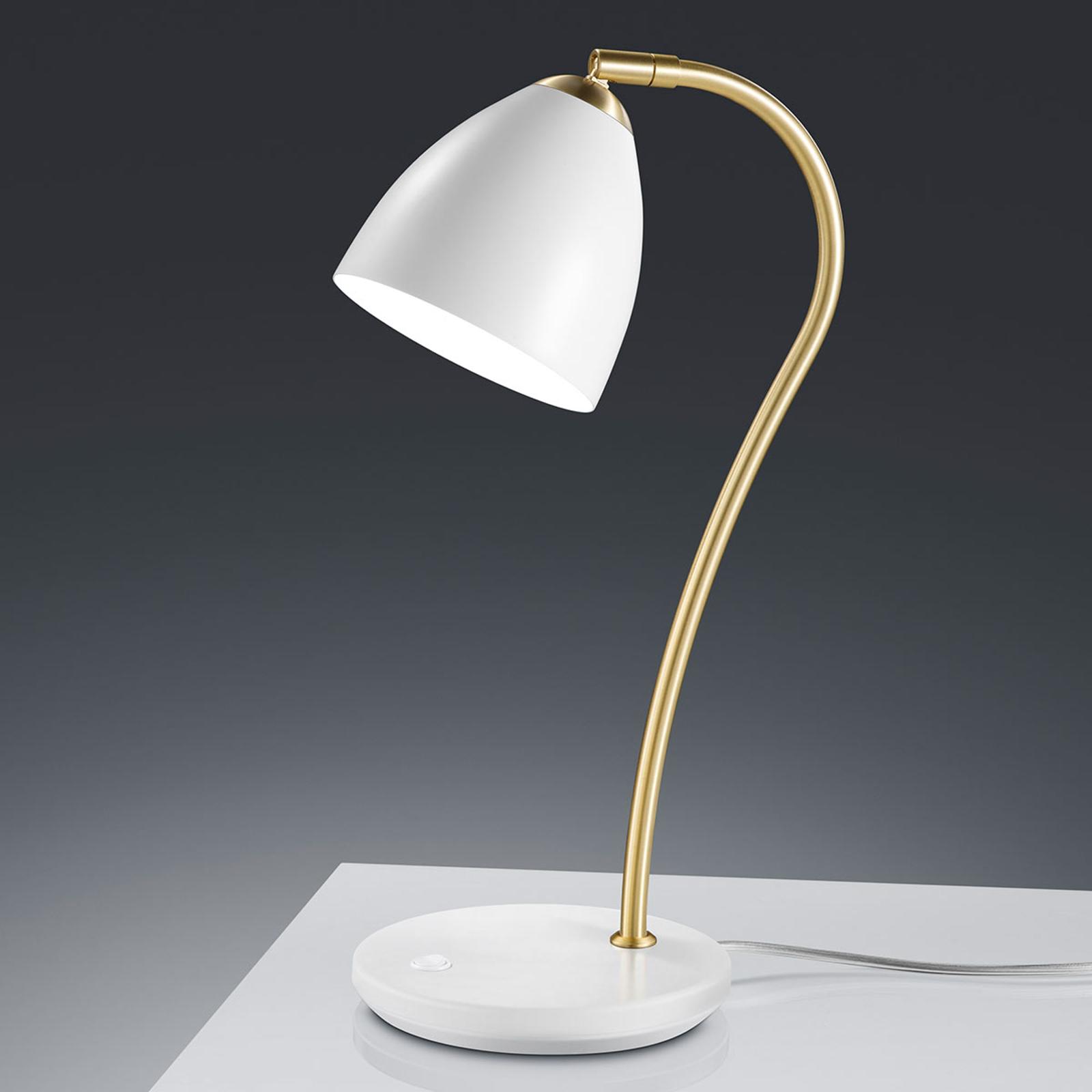 Baulmann 14.246 Tischlampe, messing-weiß