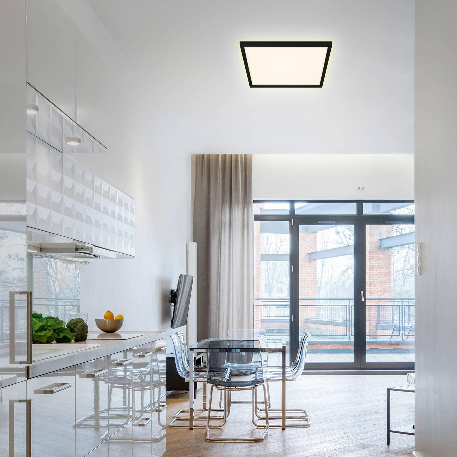 LED plafondlamp 7364, 42 x 42 cm, zwart
