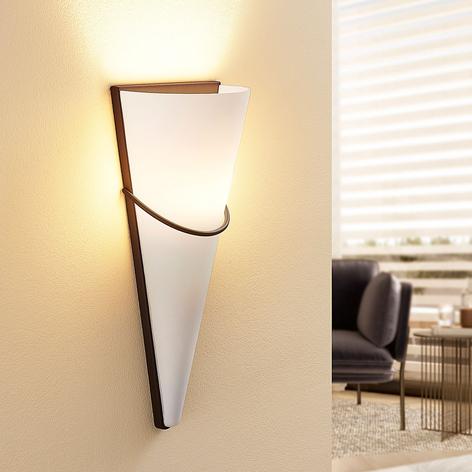 LED-vägglampa Melek med rostfärgad dekor