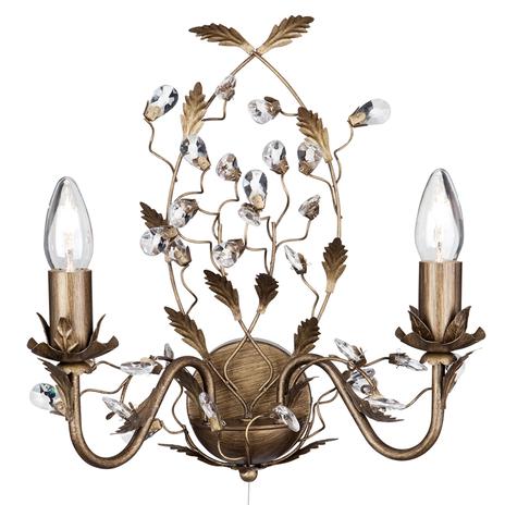 2-pkt. lampa ścienna Almandite w stylu florenckim