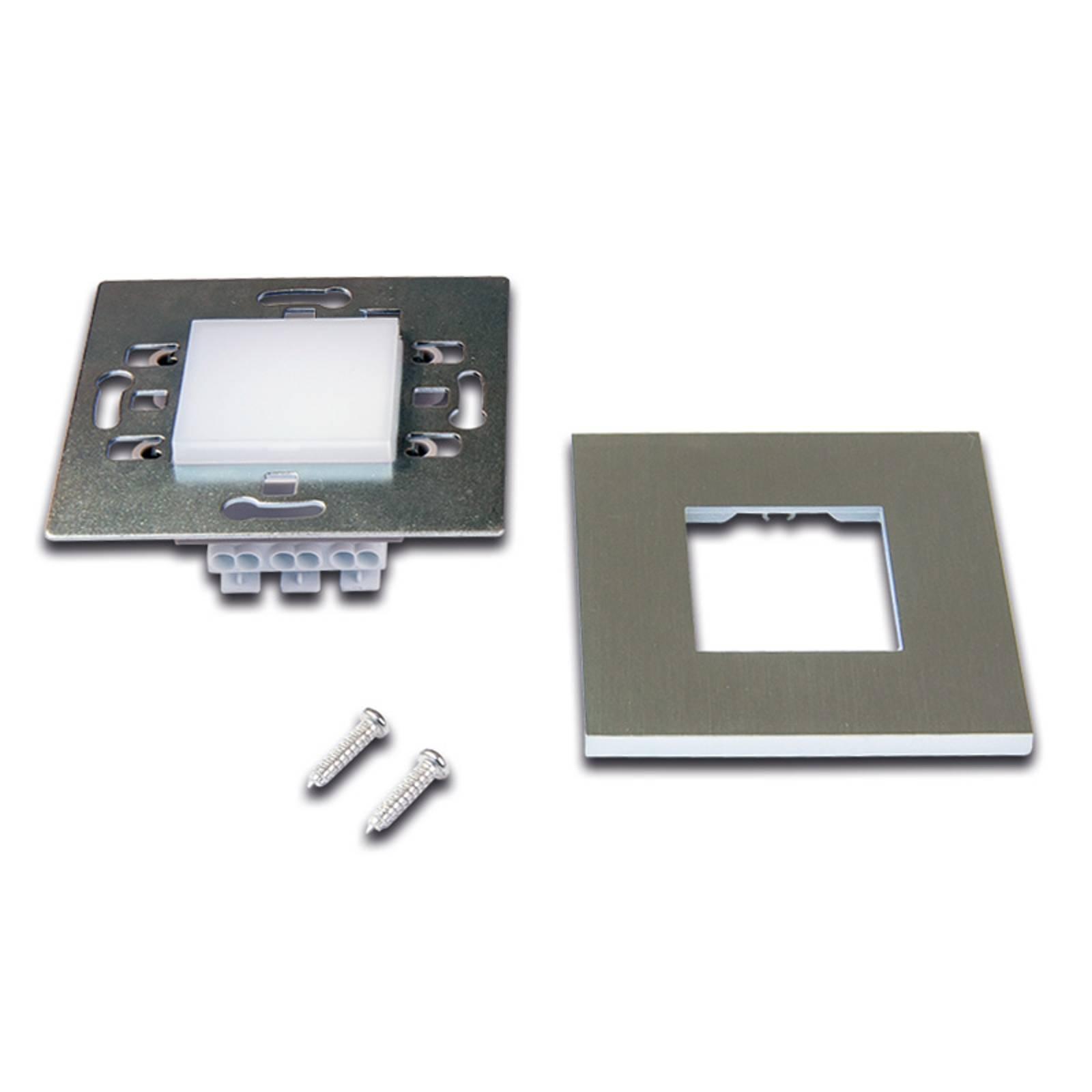 Applique LED Wall F da incasso, look acciaio