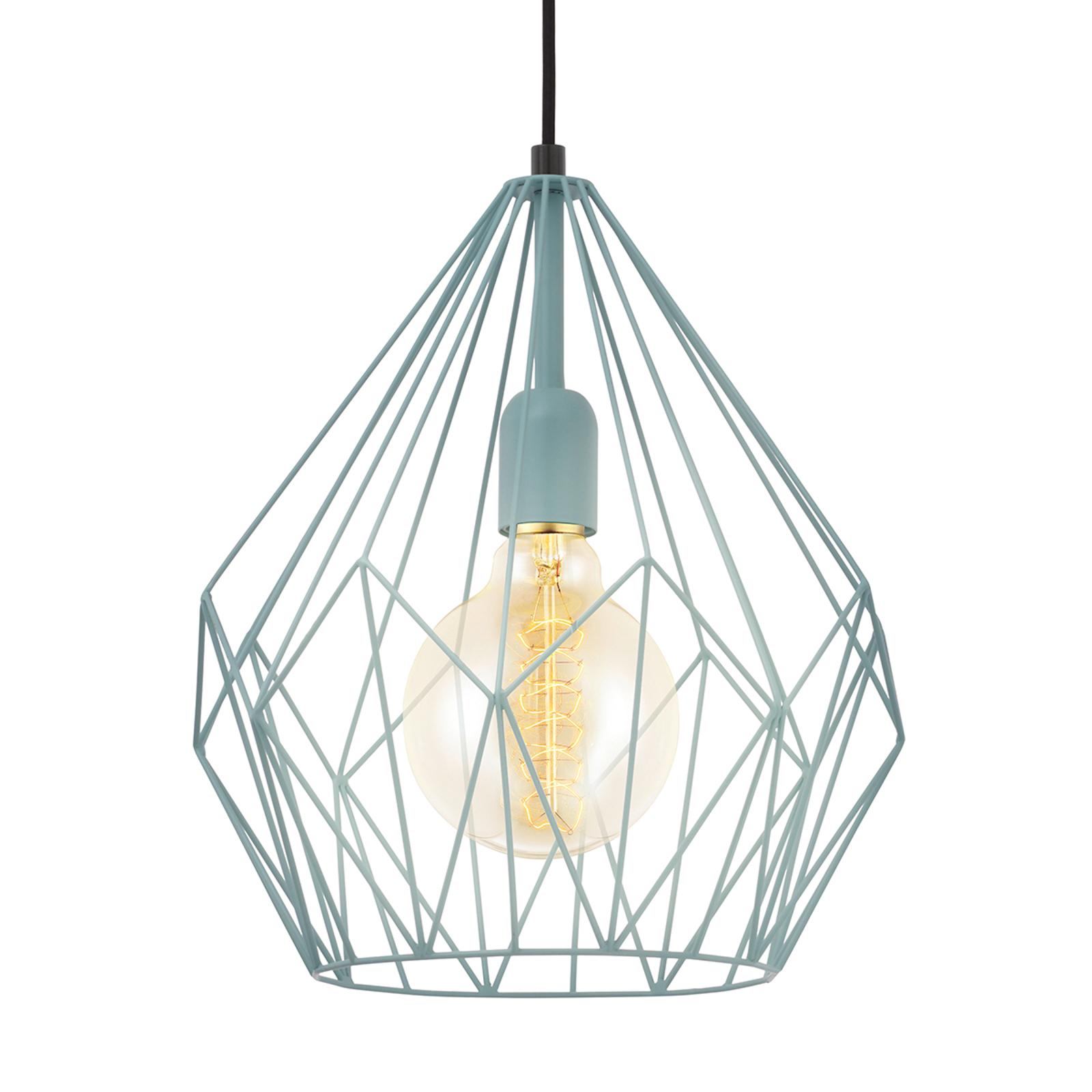 Kolor mięty, lampa wisząca Carlton w stylu vintage