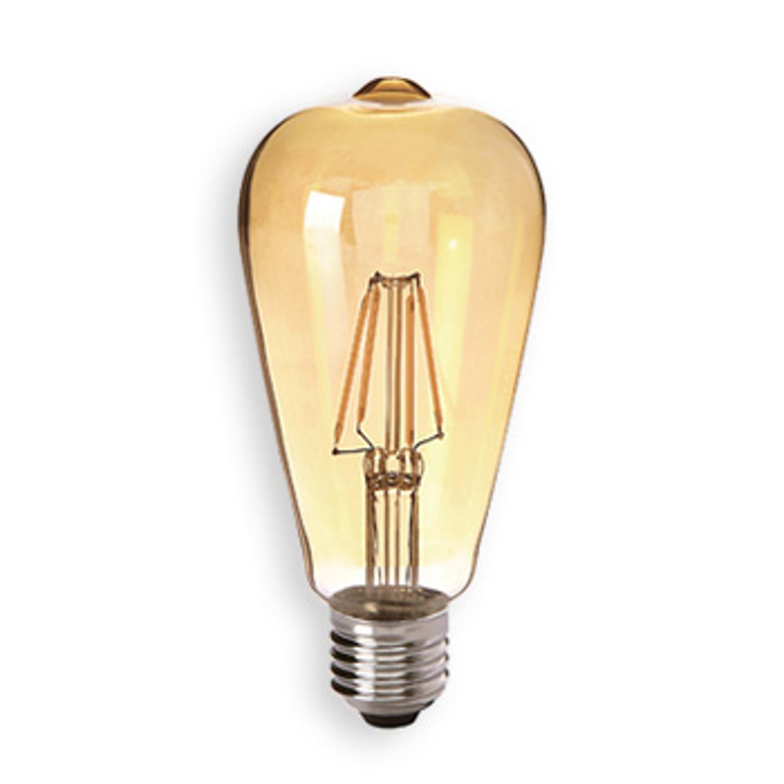 E27 4,5 W 824 LED-rustikalampa guld, klar