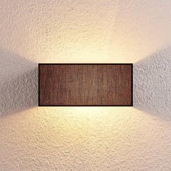 Stoffen wandlamp Adea, 30 cm, hoekig, zwart