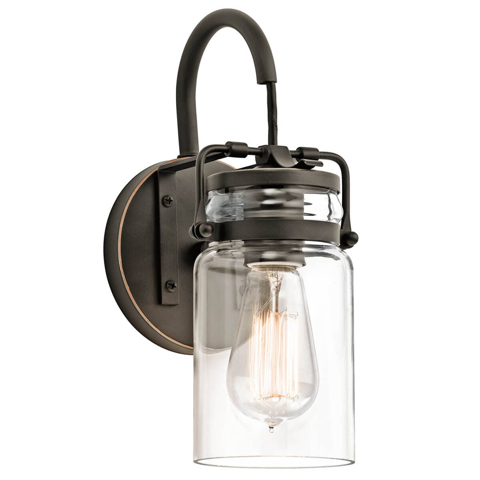 Transparante lampenkap - wandlamp Brinley