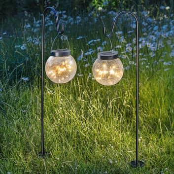 Dekorationslampe Smart Globe, solceller, 2'er sæt