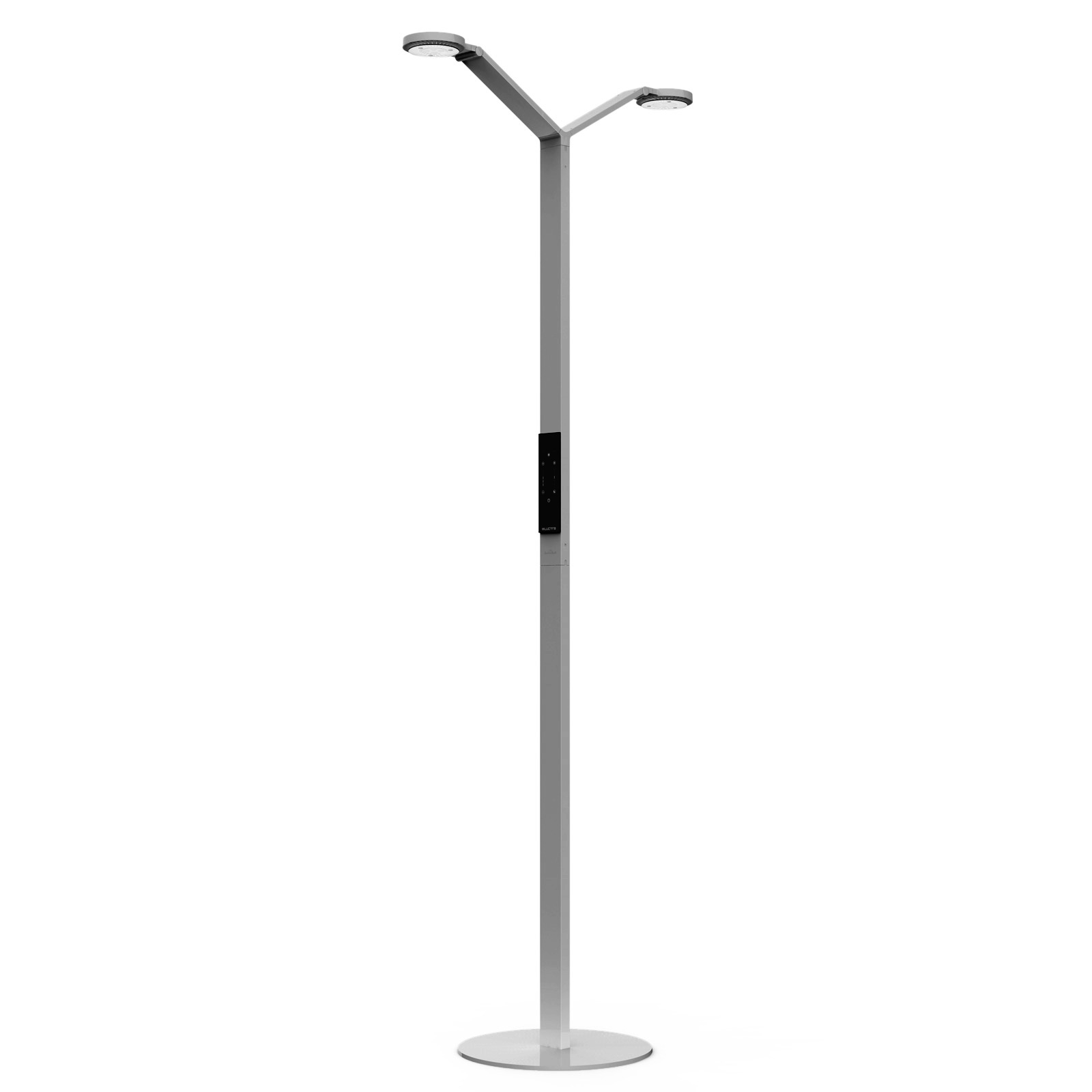 Luctra Floor Twin Radial LED-Stehleuchte aluminium