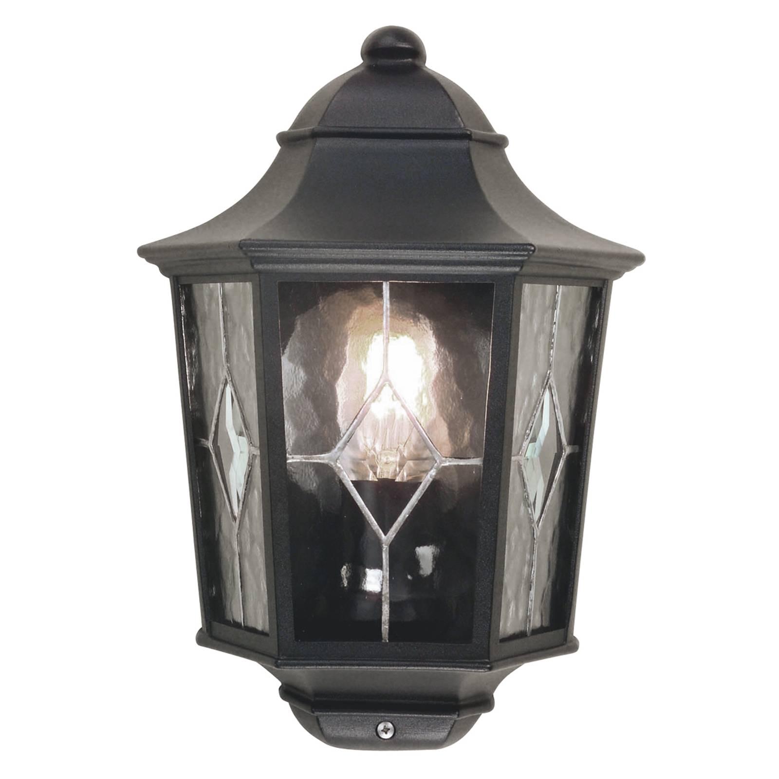 Buitenwandlamp Norfolk met glas in lood