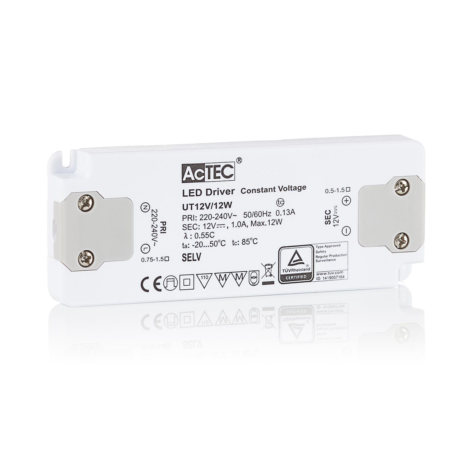 AcTEC Slim LED-driver CV 12 V, 12 W