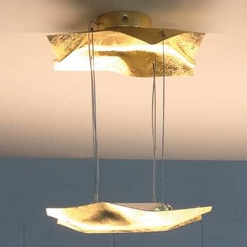 Piccola Crash - taklampa belagd med bladguld