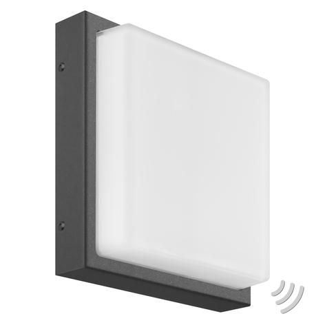 Aplique LED para exterior Ernest, angular, grafito
