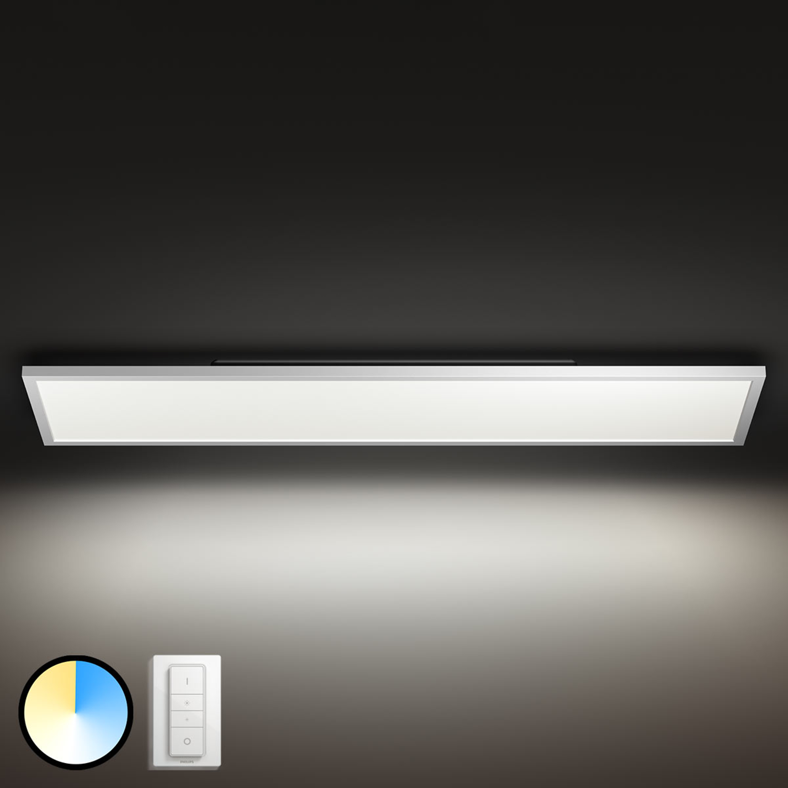Philips Hue Aurelle LED paneel hoekig, 120 x 30 cm