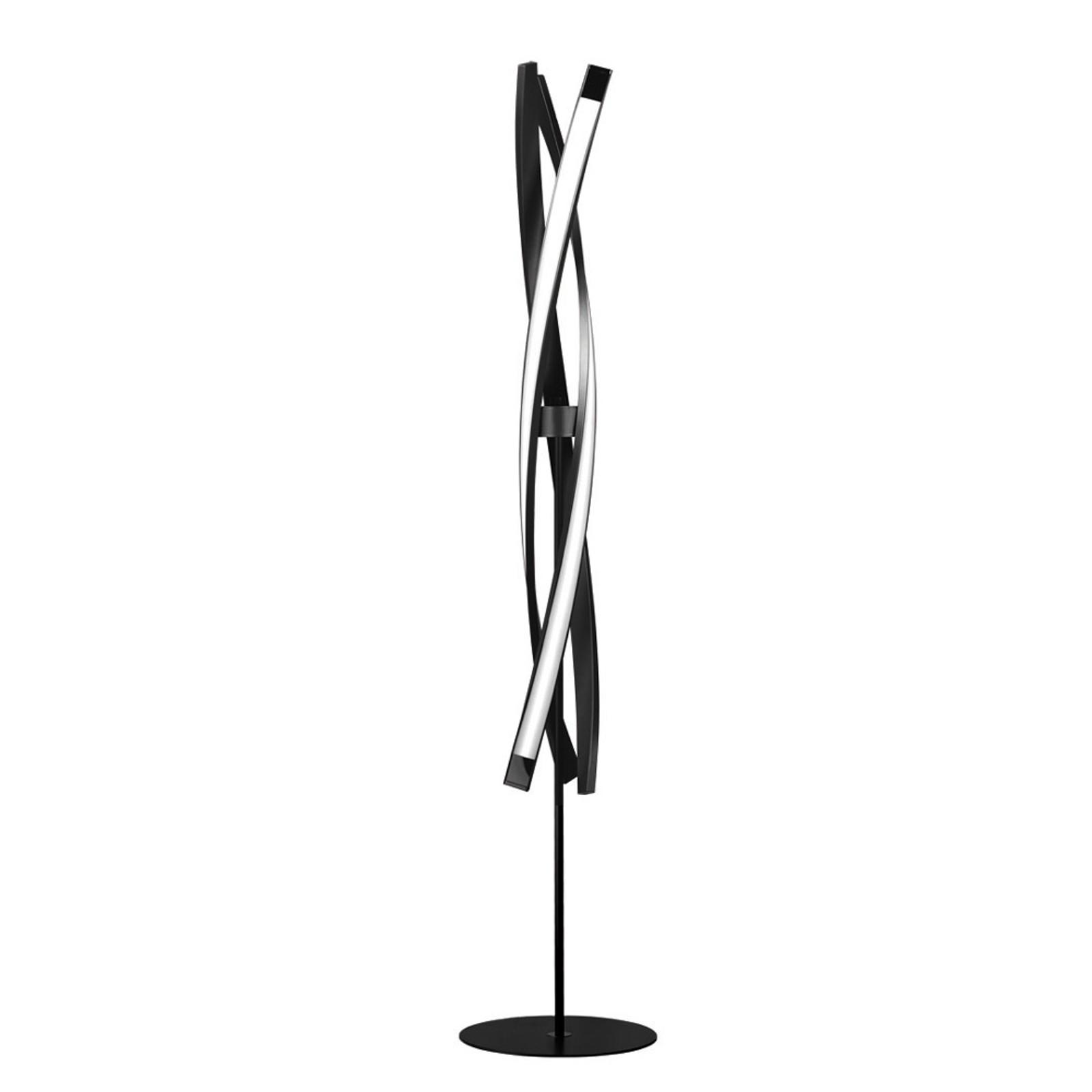 LED vloerlamp Sagitta, 3-lamps, zwart