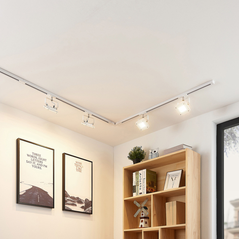 1-faset LED-skinnesystem Linsey, 4 lys, hvid