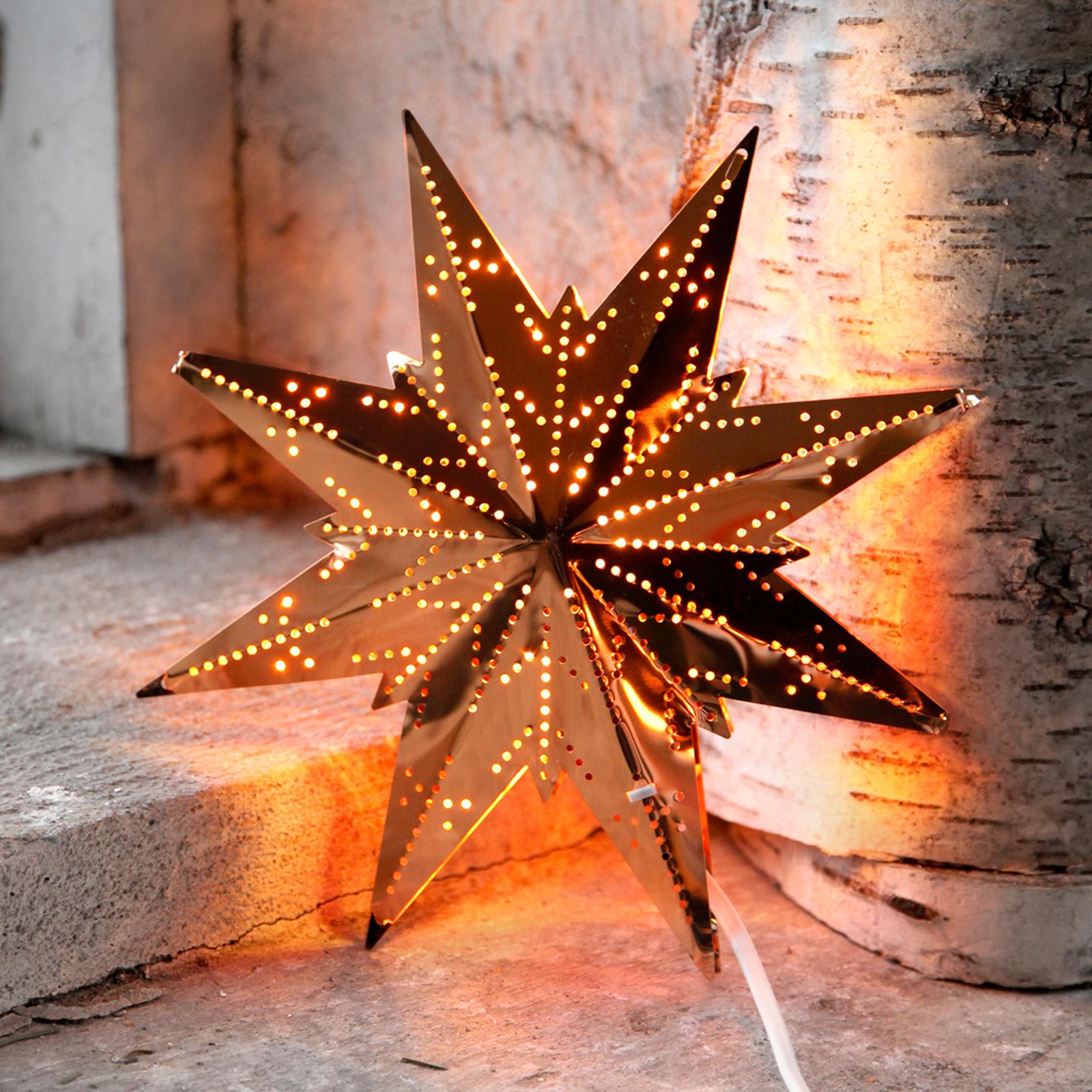 Mini estrella de latón de ocho puntas