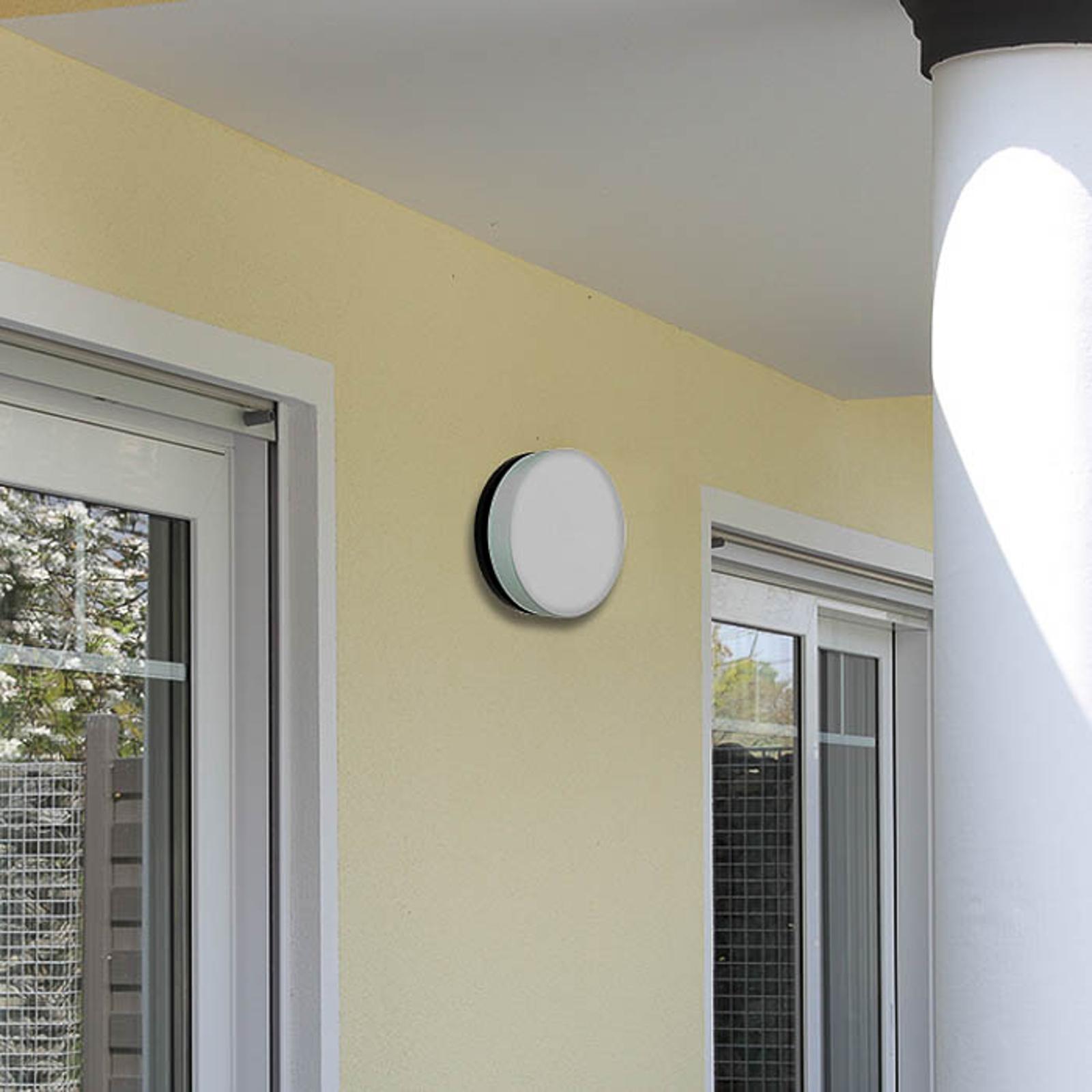 Applique LED 6308 anthracite, IP65, Ø 25cm