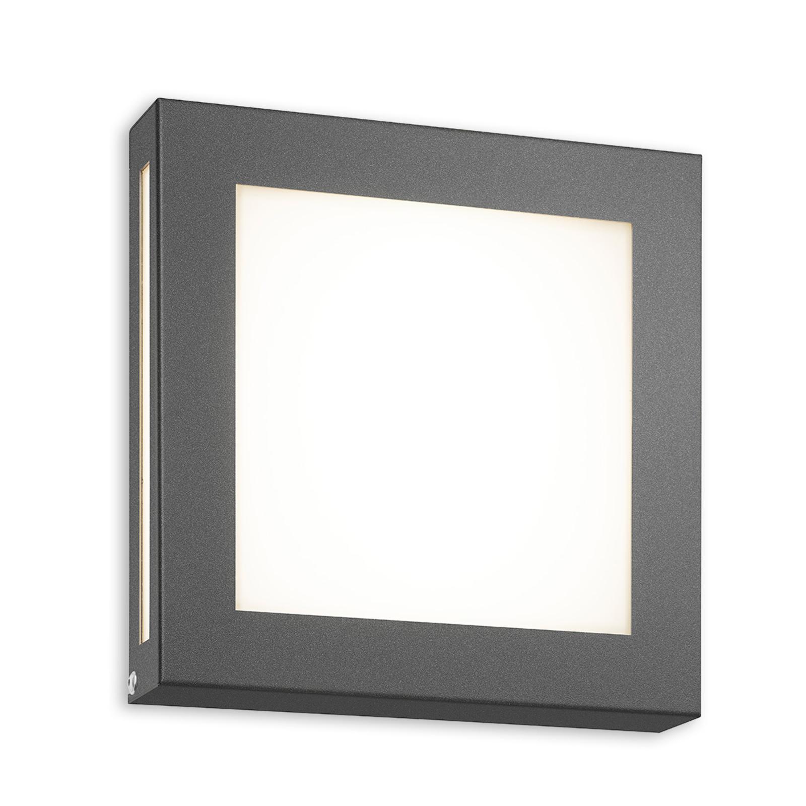 Antracietkleurige LED buitenwandlamp Legendo Mini