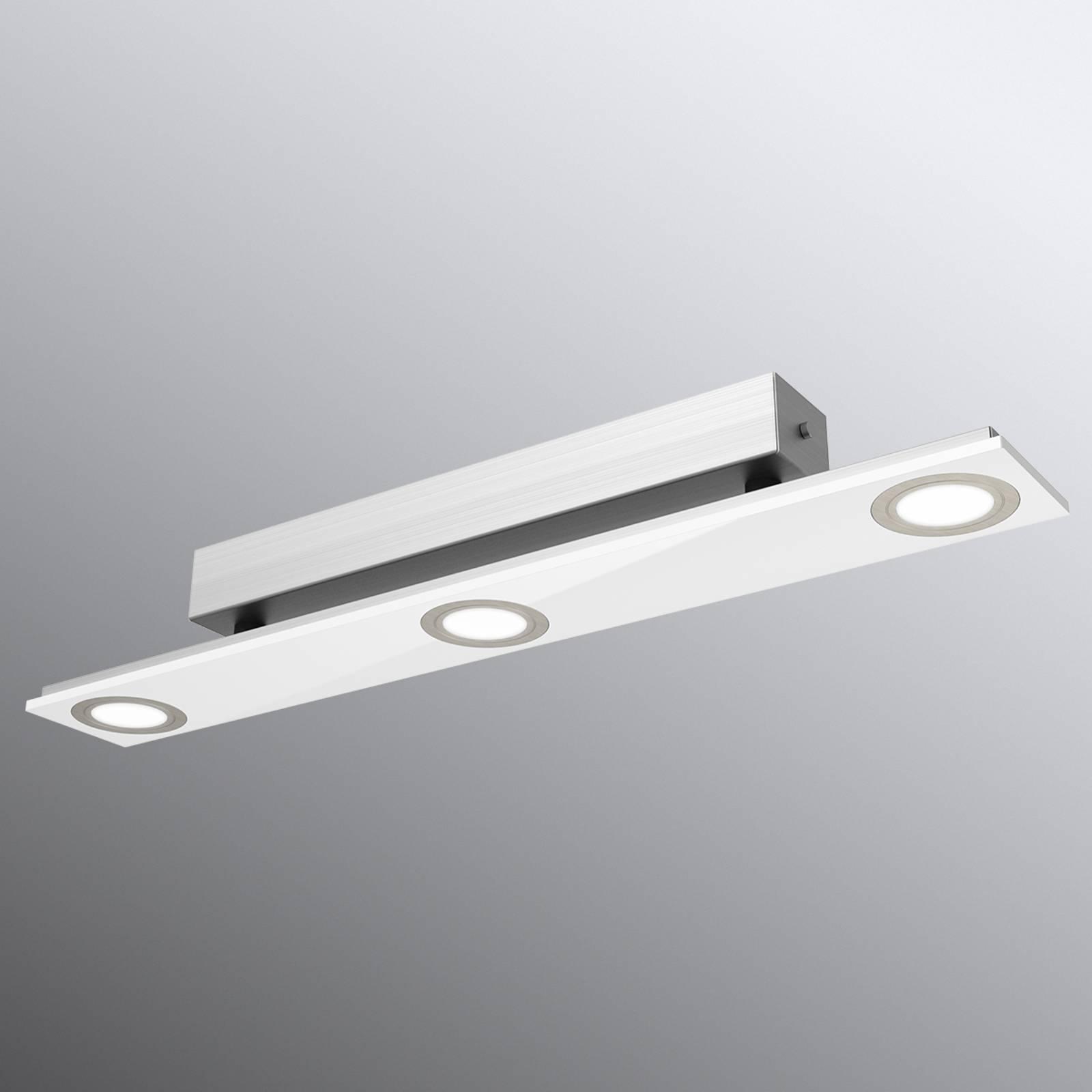 Pano - 3-punktowa lampa sufitowa LED biała