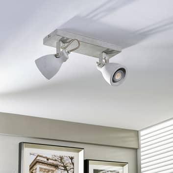 2-lamppuinen LED-spotti Kadiga betonista, GU10