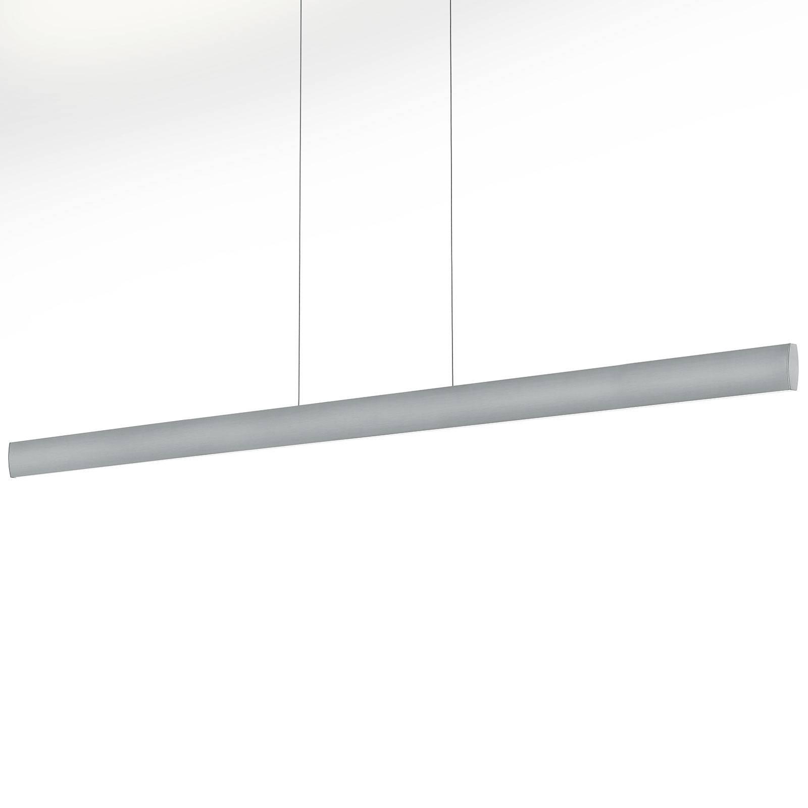 Suspension LED Runa, nickel, longueur 152cm