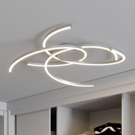 Lindby Katris lámpara LED de techo, 73 cm, alu