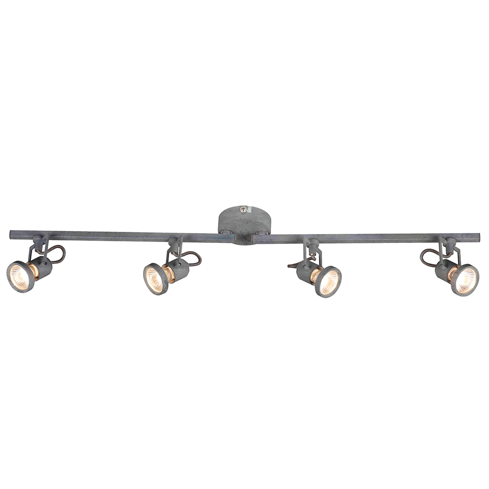 Uitrichtbare LED plafondlamp Concreto - 4 lichtbr.