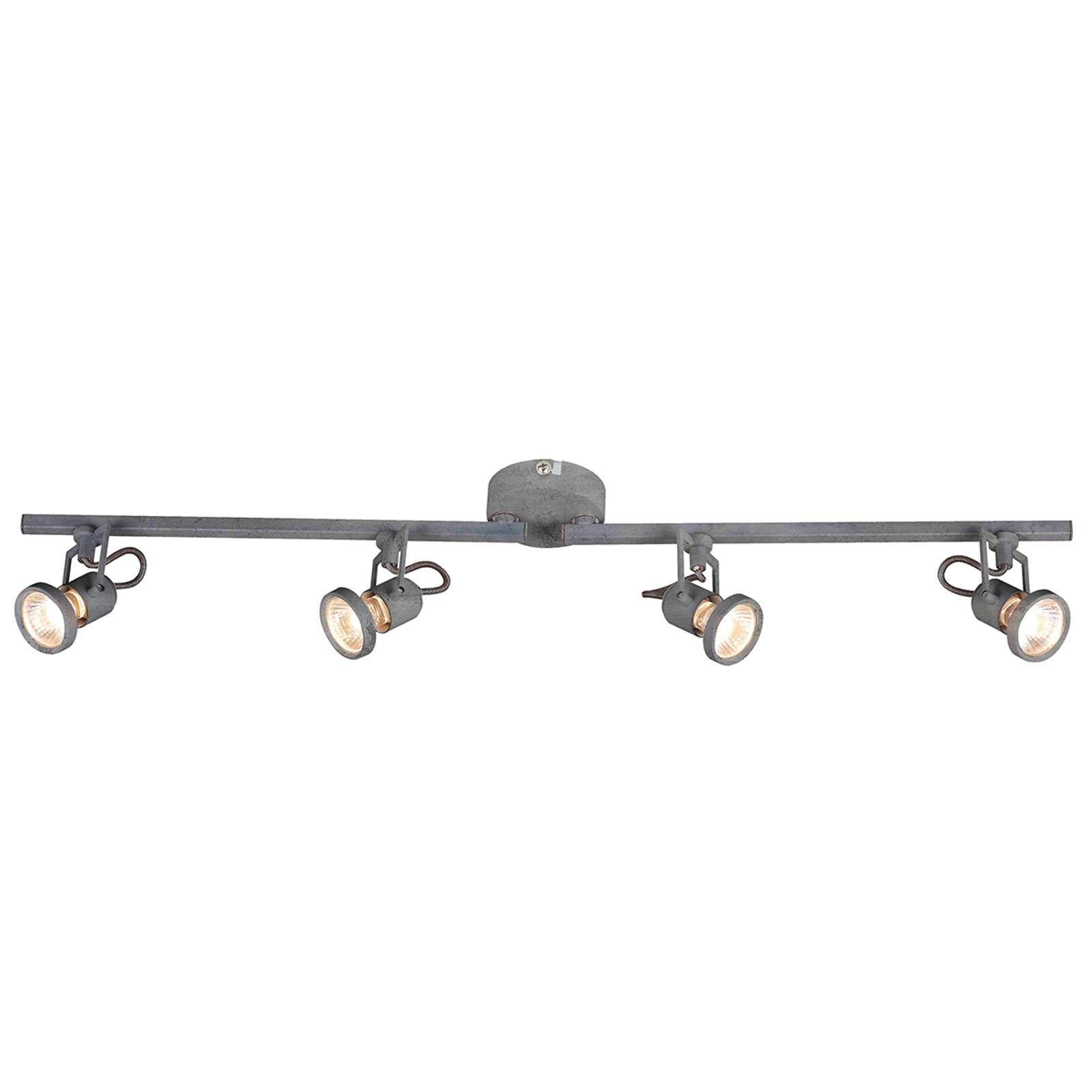 Regulowana lampa sufitowa LED Concreto, 4-punktowa