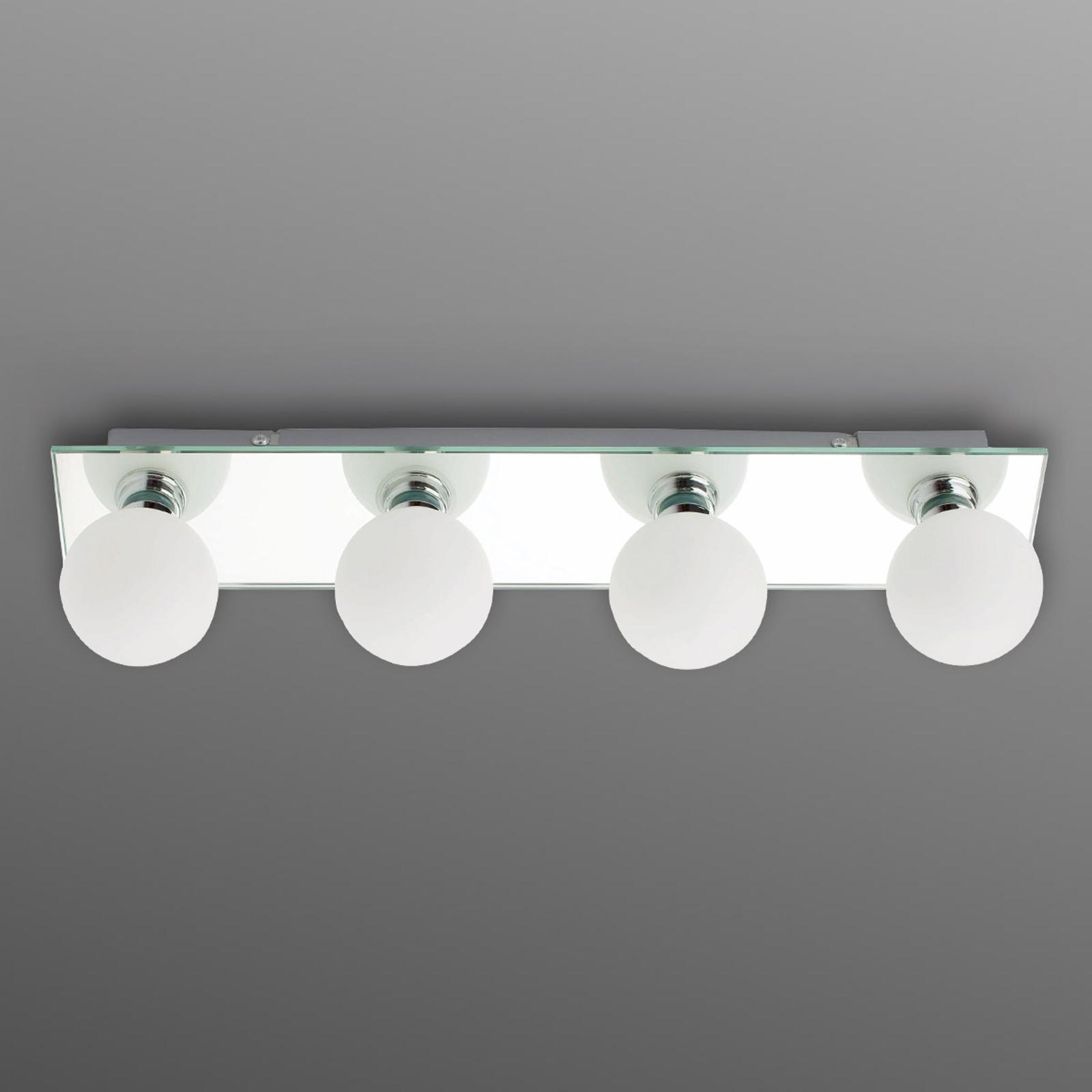 Odbijająca łazienkowa lampa sufitowa LASS, 4-pkt.