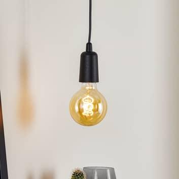 Lámpara colgante Brasil, negro, 1 luz