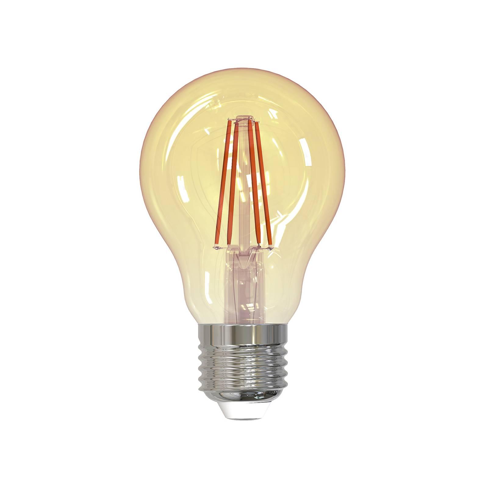 Lampadina LED filamenti E27 4,5W 2.000K 400lm oro