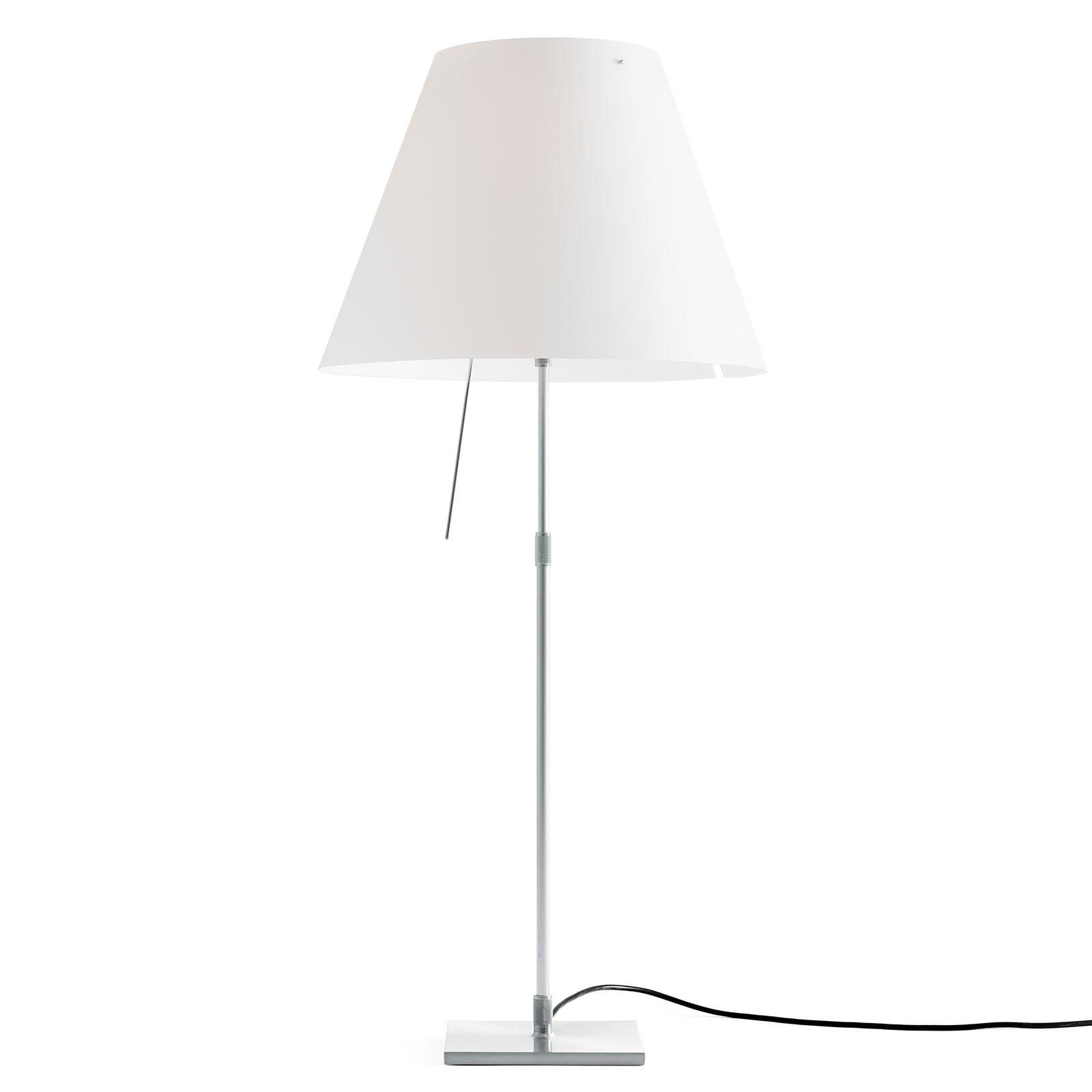 Luceplan Costanza tafellamp alu wit met diffusor