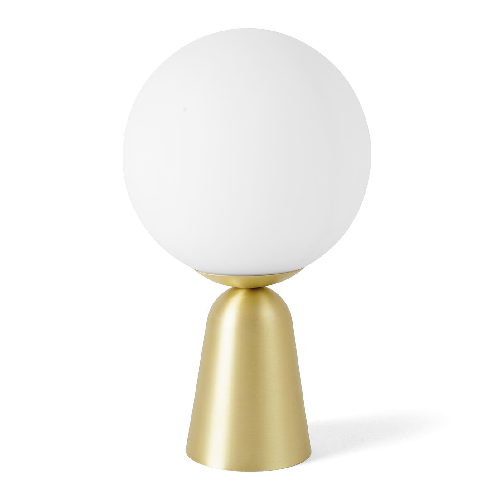 Tischleuchte Lunar mit goldenem Fuß, Ø 20 cm